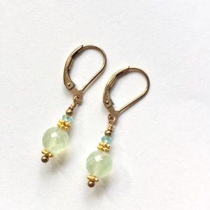 Jewelry - Gemstone 14K Gold Filled Drop Earrings Handmade